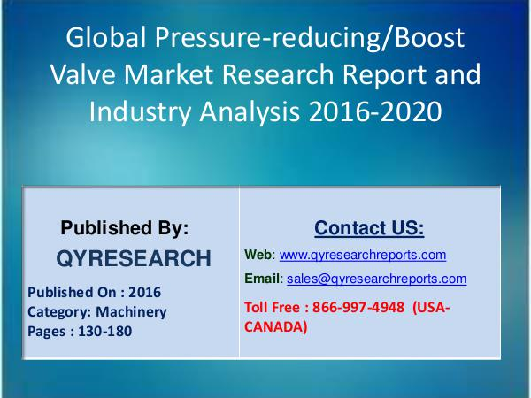 Latest Market State Global Pressure-reducing/Boost Valve Industry 7