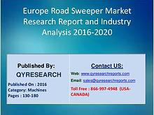Road Sweeper Market 2016 Analysis, Trends, Growth, Research