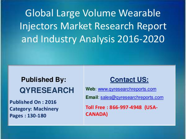 Large Volume Wearable Injectors Market : GLOBAL INDUSTRY ANALYSIS 2