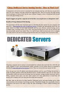 Best Cheap Website Hosting Service Plan - How to Find It?