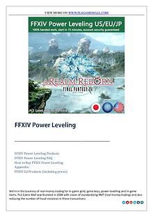 Buy FFXIV Power Leveling at best price from Pls Game Mall
