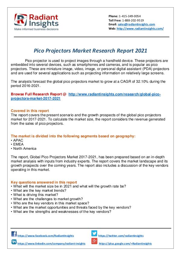 Research Analysis Reports Pico Projectors Market