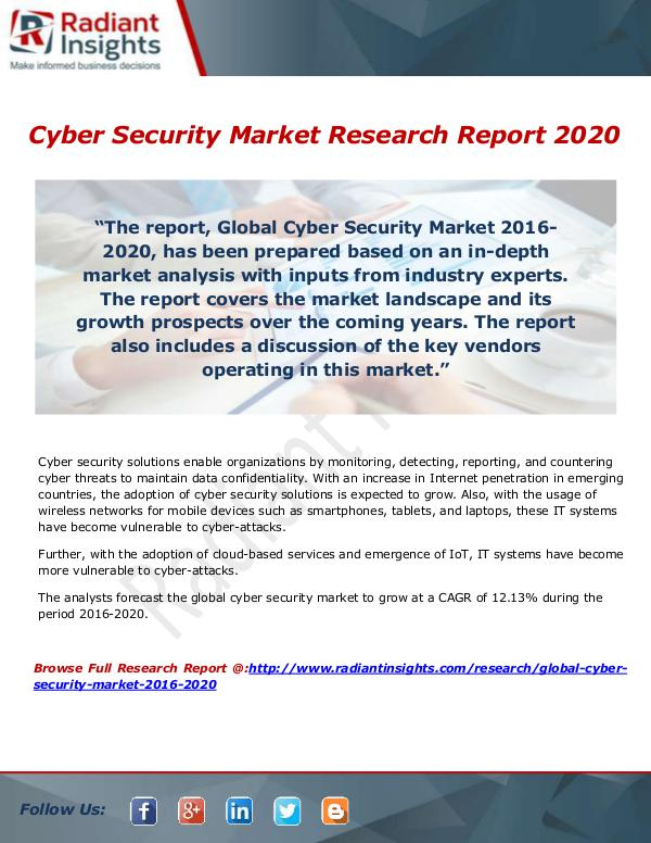 Research Analysis Reports Cyber Security Market