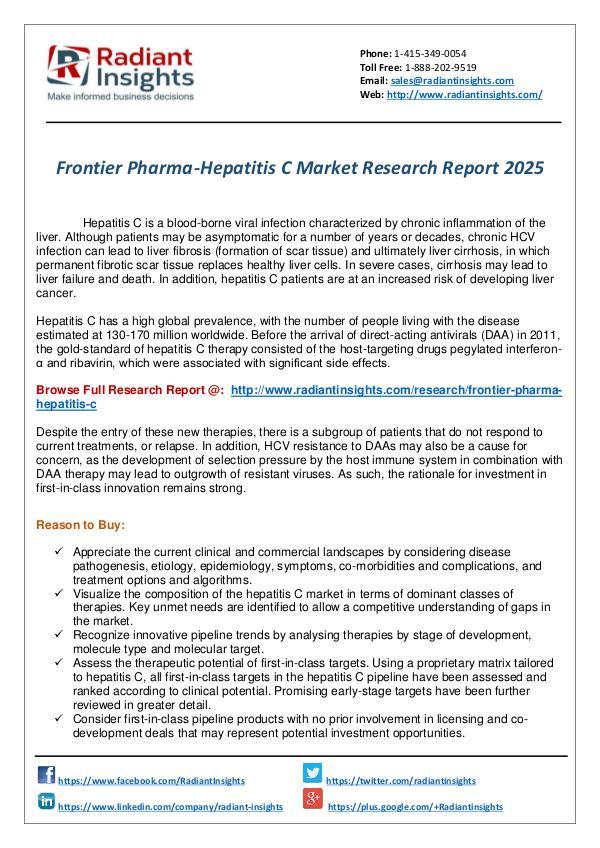 Frontier Pharma-Hepatitis C Market Research Report