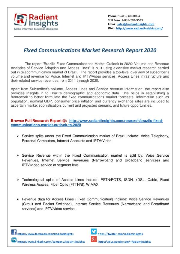 Fixed Communication Market Research Report