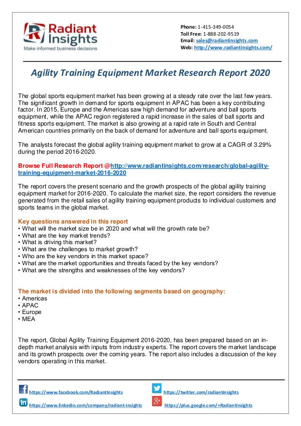 Agility Training Equipment Market Report