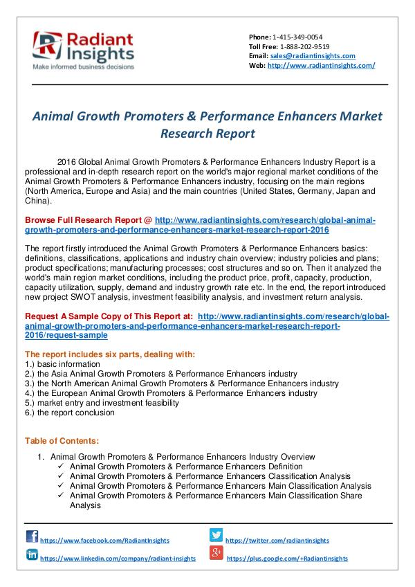 Animal Growth Promoters & Performance Enhancers