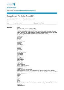 Europe mosaic tile market report 2017