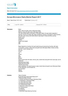 Europe Microwave Radio Market Report 2017