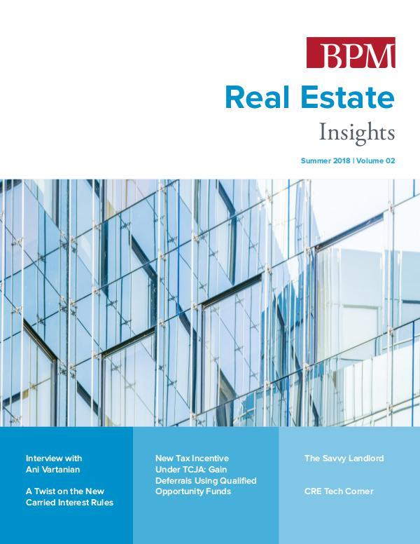 Real Estate Insights Volume 02 | Summer 2018
