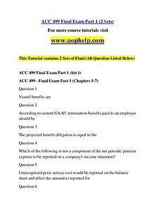ACC 499 Endless Education /uophelp.com