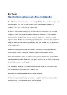 ACC 201 Final Project Part II