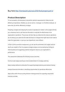 ACC 202 Final Project Part II