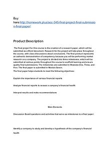 ACC 345 Final Project Final Submission Final Paper