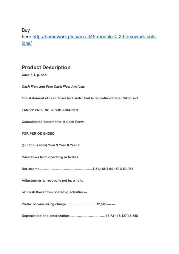 ACC 345 Module 4-2 Homework (solutions) SNHU