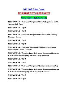 BSHS 442 TUTOR Career Begins/bshs442tutor.com