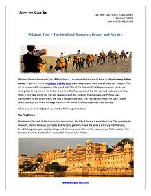 Udaipur Tour – The Height of Romance, Beauty and Royalty