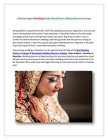 A Picturesque Wedding in the Royal State of Rajasthan-Evaevents