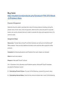 FIN 370 Week 2 Problem Sets