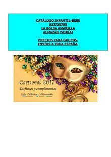Catálogo infantil carnaval 2017