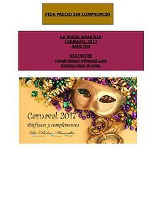 Catálogo Carnaval 303 adultos . La bolsa Amarilla.