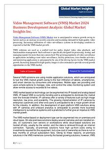 Video Management Software (VMS) Market 2024 Forecasts and Analysis