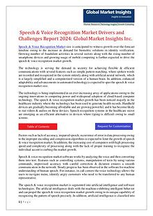 Speech & Voice Recognition Market 2017-2024 Forecasts and Analysis