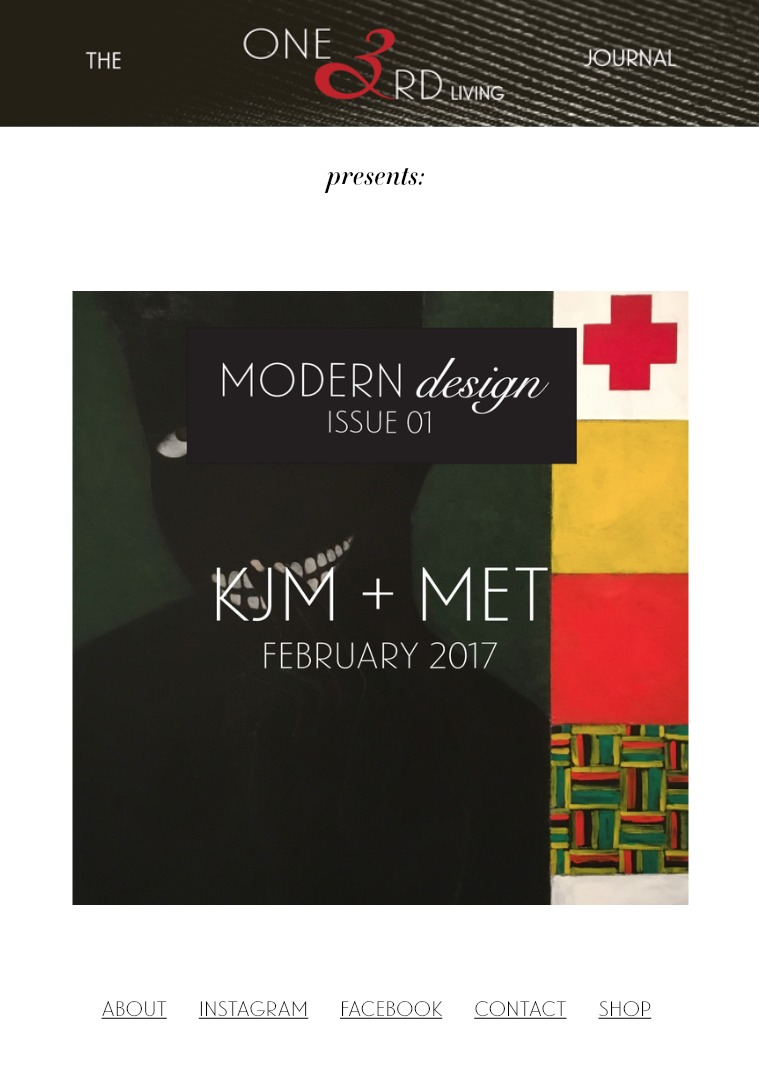 The One 3rd Living Journal Modern Design/ Issue 01/ Feb 2017