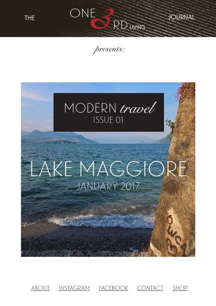 The One 3rd Living Journal Modern Travel/ Issue 01/ Jan 2017