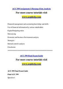 ACC 599 Endless Education /uophelp.com