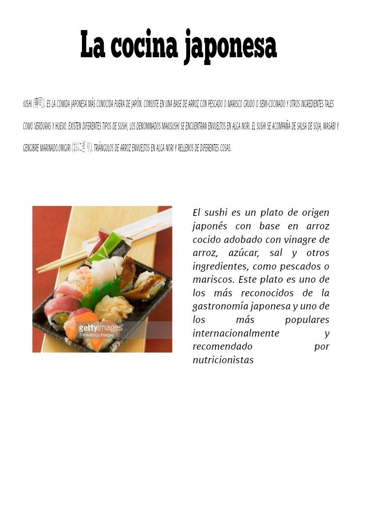 Tipos principales de sushi, ingredientes y rellenos tipos de sushi