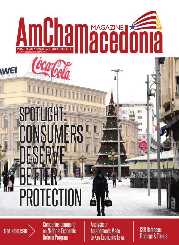 AmCham Macedonia Winter 2017 (Issue 52)