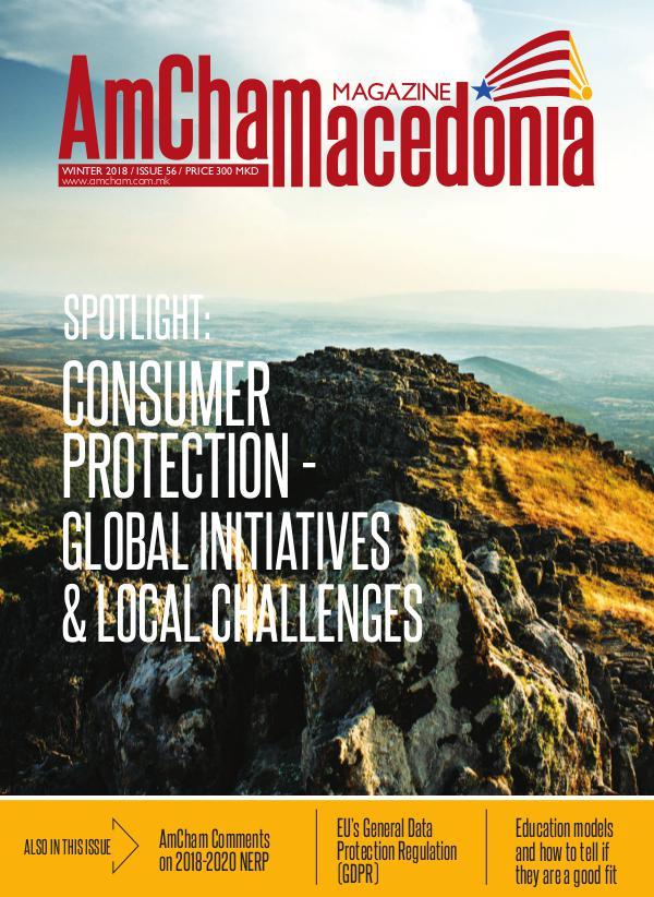 AmCham Macedonia Winter 2018 (Issue 56)