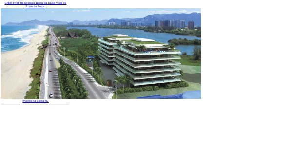 Apartamentos na planta na Barra RJ