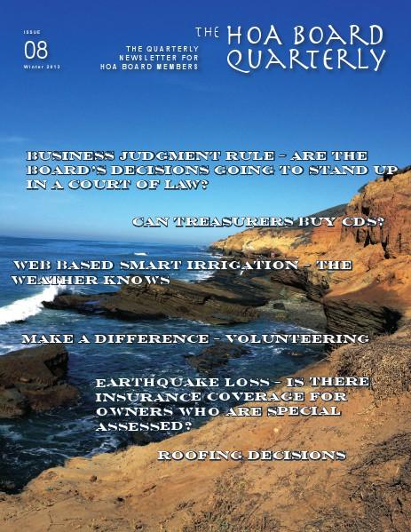 The HOA Board Quarterly Winter 2013 Issue #8