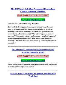 BIO 402 STUDY Career Begins/bio402study.com