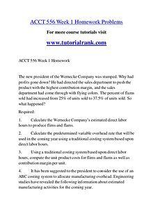 ACCT 556 Course Great Wisdom / tutorialrank.com