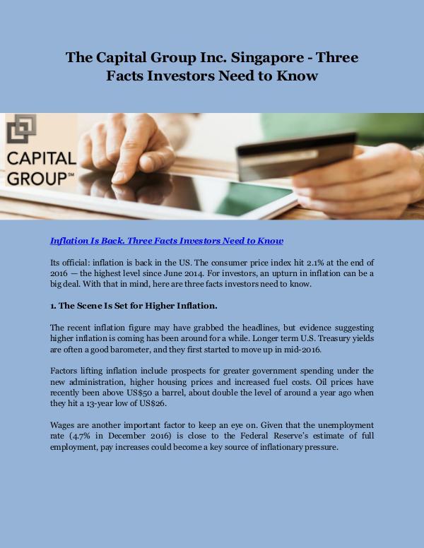 The Capital Group Inc. Singapore