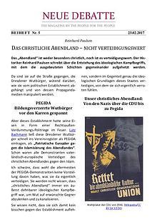 Neue Debatte - Beiheft #005 - 04/2017