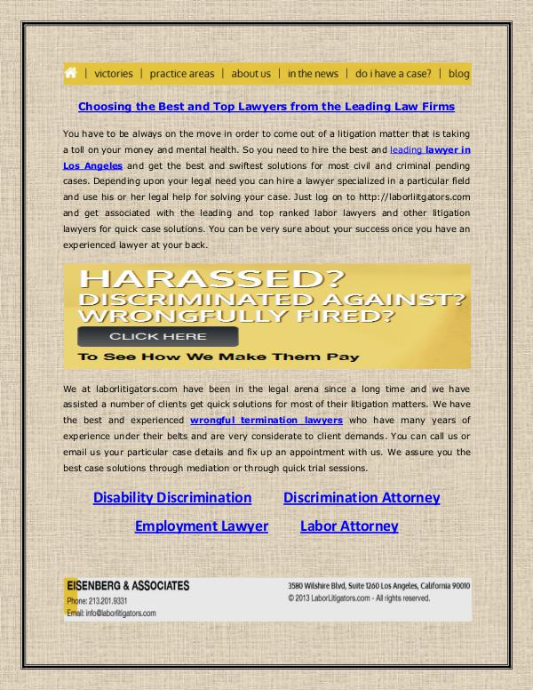 Eisenberg & Associates Best and Top Lawyers from the Leading Law Firms