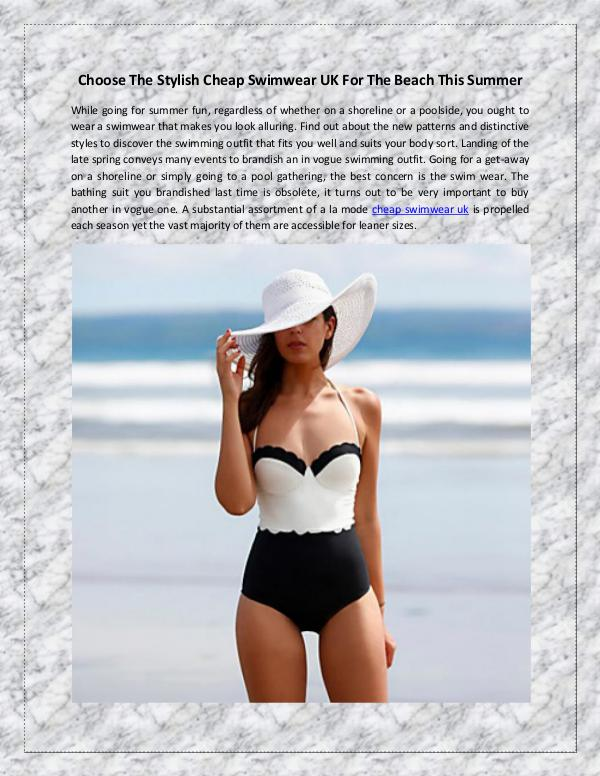 Choose The Stylish Cheap Swimwear UK For The Beach This Summer Choose The Stylish Cheap Swimwear UK For The Beach