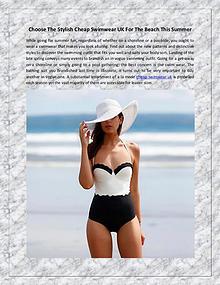 Choose The Stylish Cheap Swimwear UK For The Beach This Summer