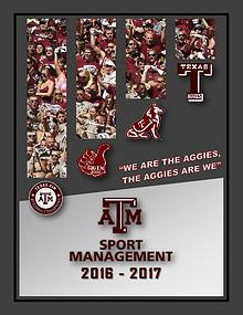 Texas A&M Sports Management Digital Yearbook 2017