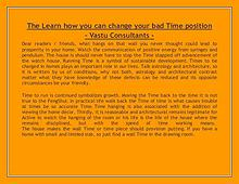 The Learn how you can change your bad Time position - Vastu Consultan