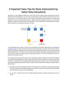 5 Important Vastu Tips for Home Improvement by Indian Vastu Consultan