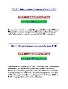 POL 215 MASTER Career Begins/pol215master.com