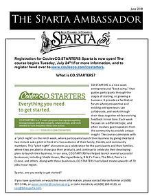 Sparta Area Chamber of Commerce Newsletter