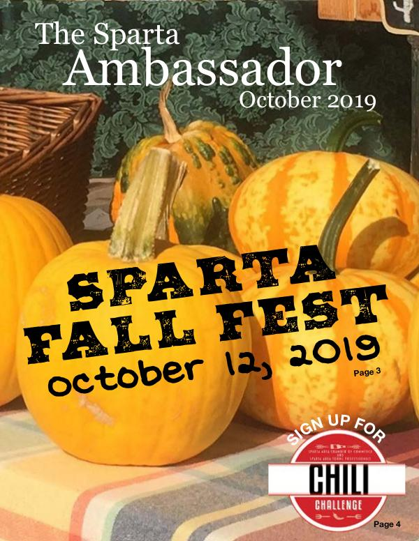 Sparta Area Chamber of Commerce Newsletter October 2019 Edition