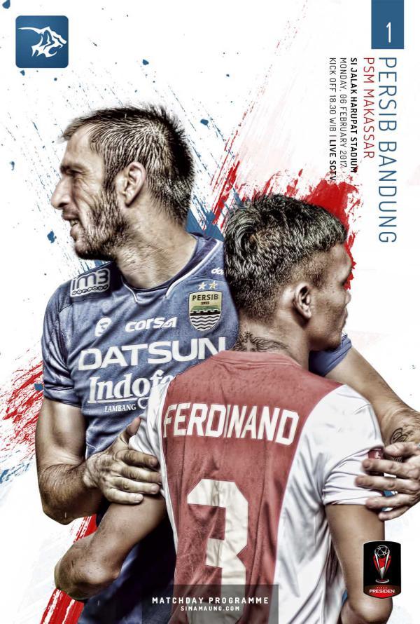 Matchday Programme PERSIB BANDUNG from SIMAMAUNG.COM Vol 1 - Simamaung Match Programme vs PSM Makassar