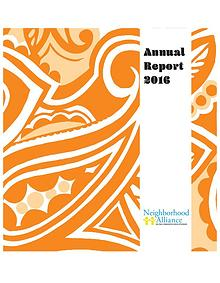 Neighborhood Alliance Annual Report 2016